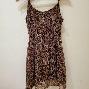 Forever21 Cheetah Print Flowy Midi Dress with Slip